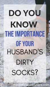 Your Husband's Dirty Socks Hold a Very Important Role. Do You Know Why?