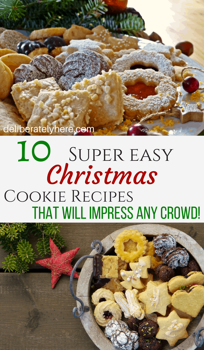 10 Easy Christmas Cookie Exchange Recipes Deliberately Here