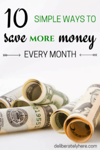 10 Simple Ways to Save MORE Money Every Month