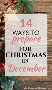 14 Ways You Can Prepare for Christmas in December