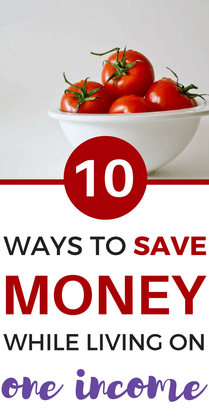 10 Ways to Save Money While Living on One Income as a Single Income Family