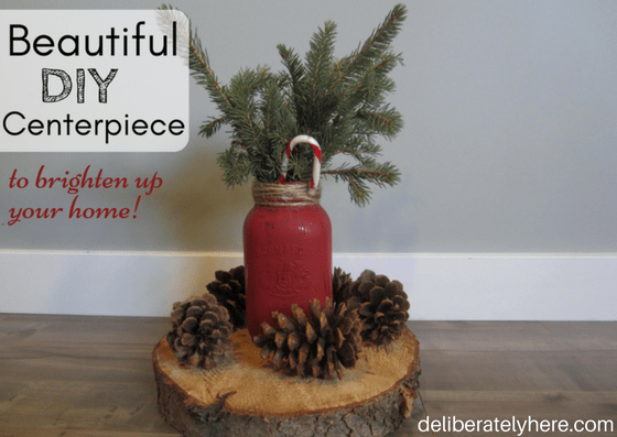 Beautiful DIY Winter Centerpiece to Brighten up Your Home