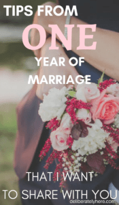 Tips From One Year of Marriage That I Want to Share With You