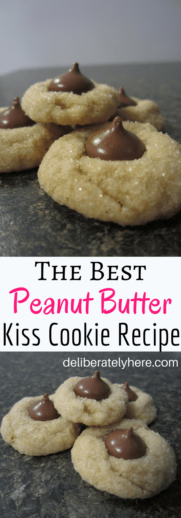 The Best Peanut Butter Kiss Cookies