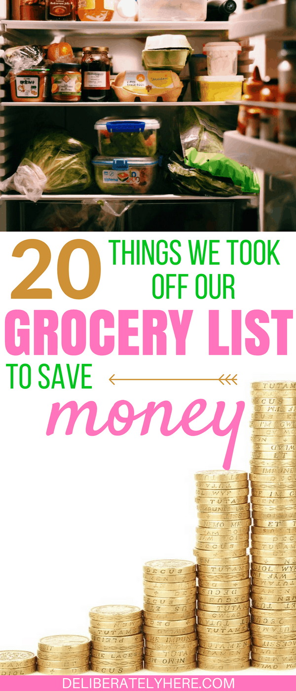 20 Things We Took Off Our Grocery List to Save Money Every Month
