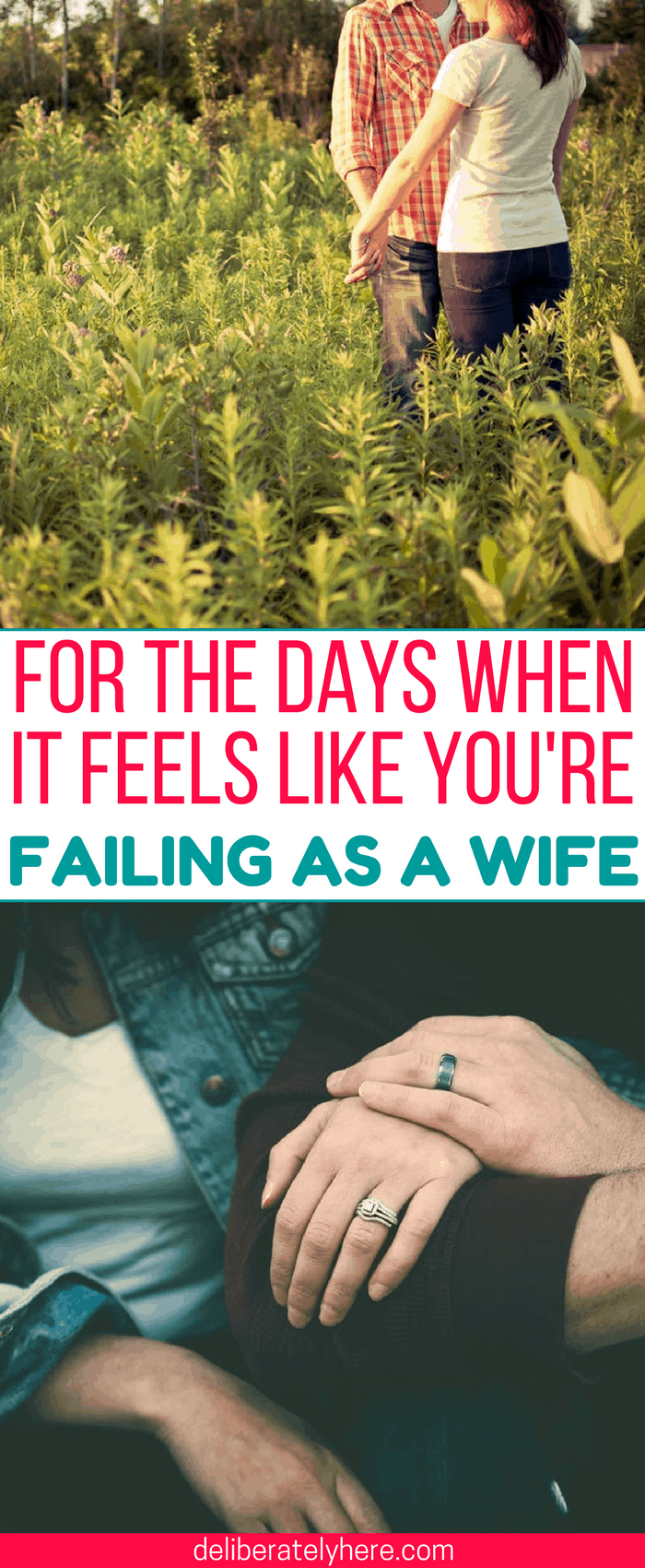 Encouragement for the days when it feels like you're failing as a wife