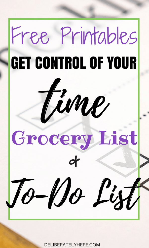 Free Printables! Get Control Of Your Time, Grocery List, And To-Do List With This Pretty Printable! Freebie