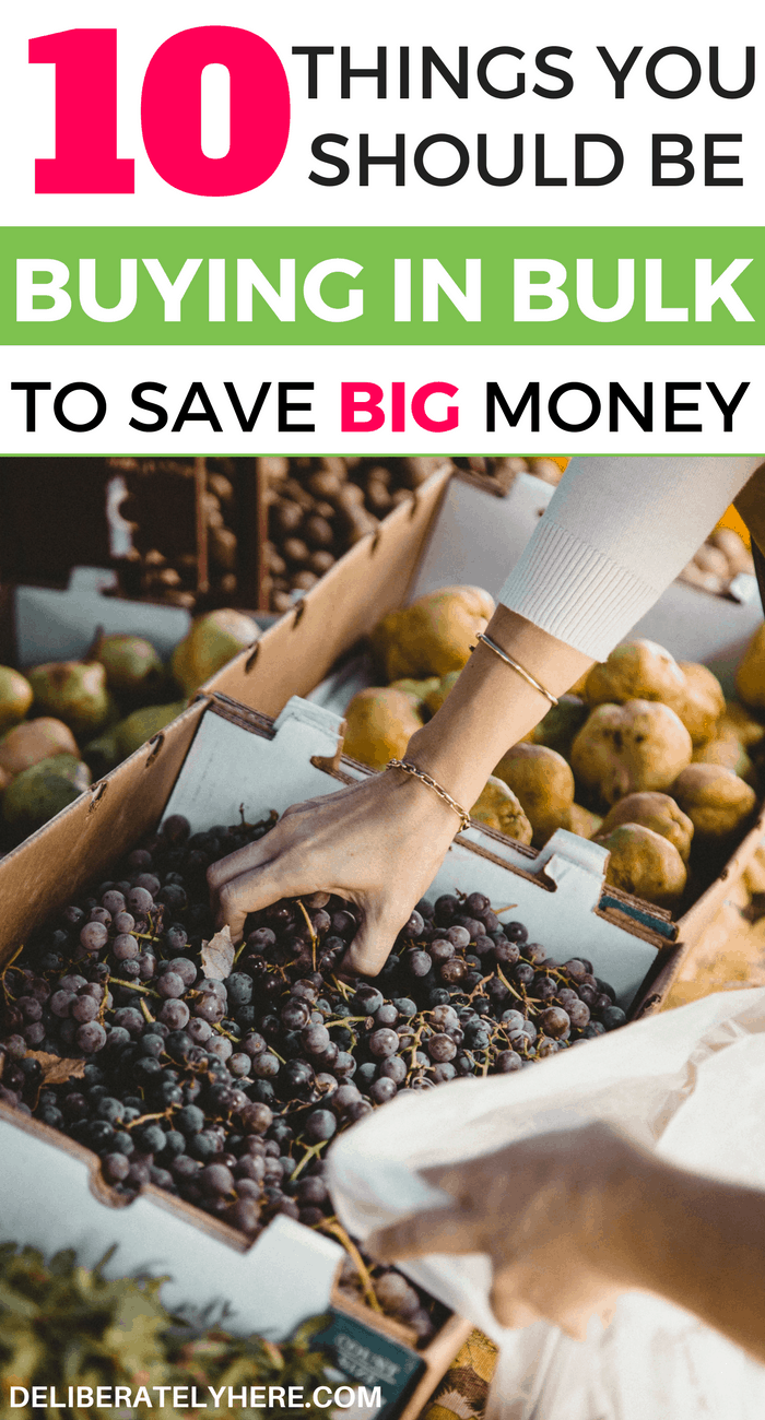 10 things you should buy in bulk to save big money and keep your monthly grocery bill down