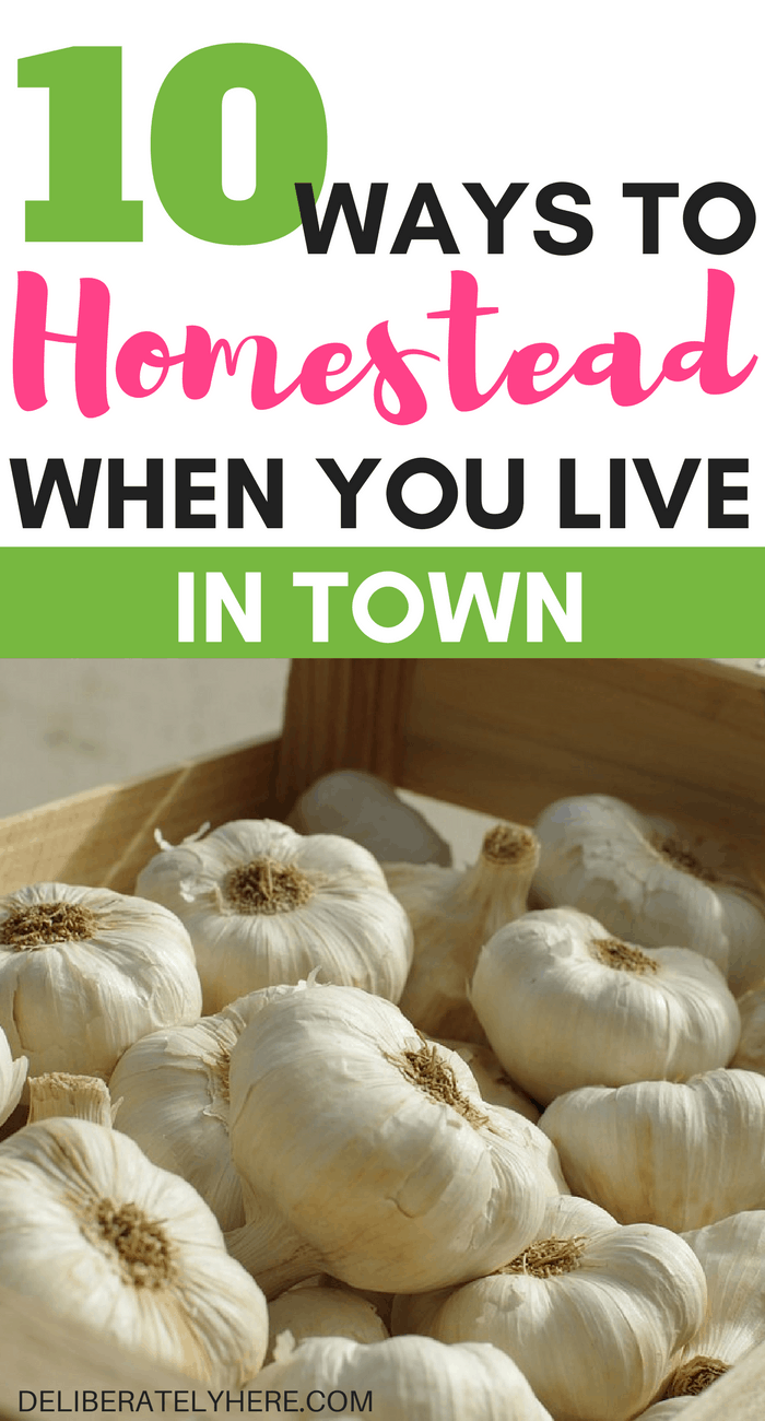 10 simple ways to homestead when you live in town | save money and live a self-sufficient and simple life