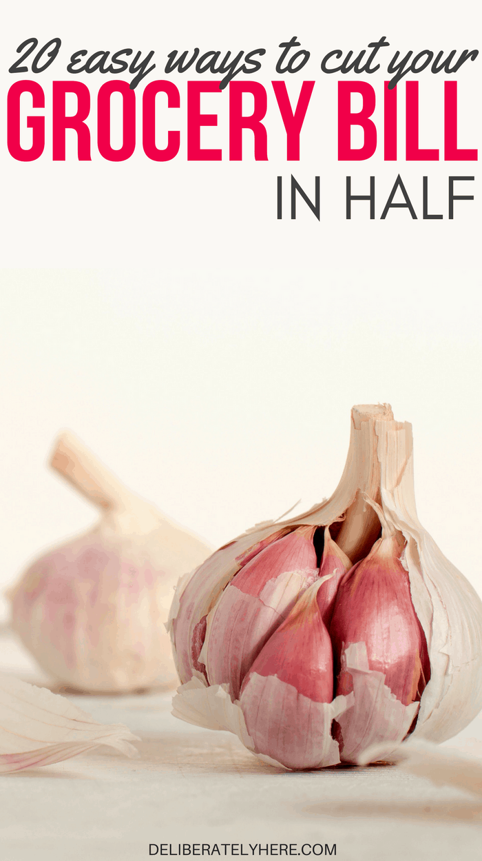 20 easy ways to cut your grocery bill in half & save money on food while still feeding your family a healthy & nutritional diet