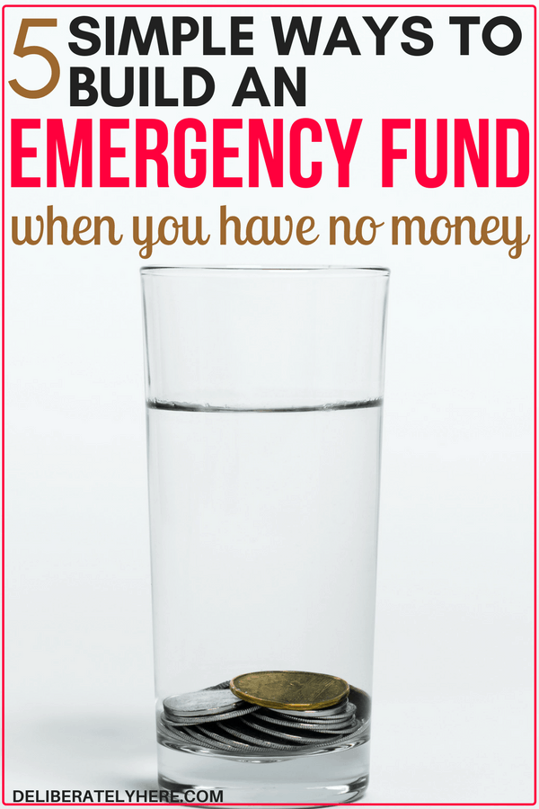 5 easy ways to build an emergency fund when you have no money and it feels impossible. WOW! These tips were super easy to follow and implement - I'm excited to start building an emergency fund now because I never thought it was possible for me - but it is!!