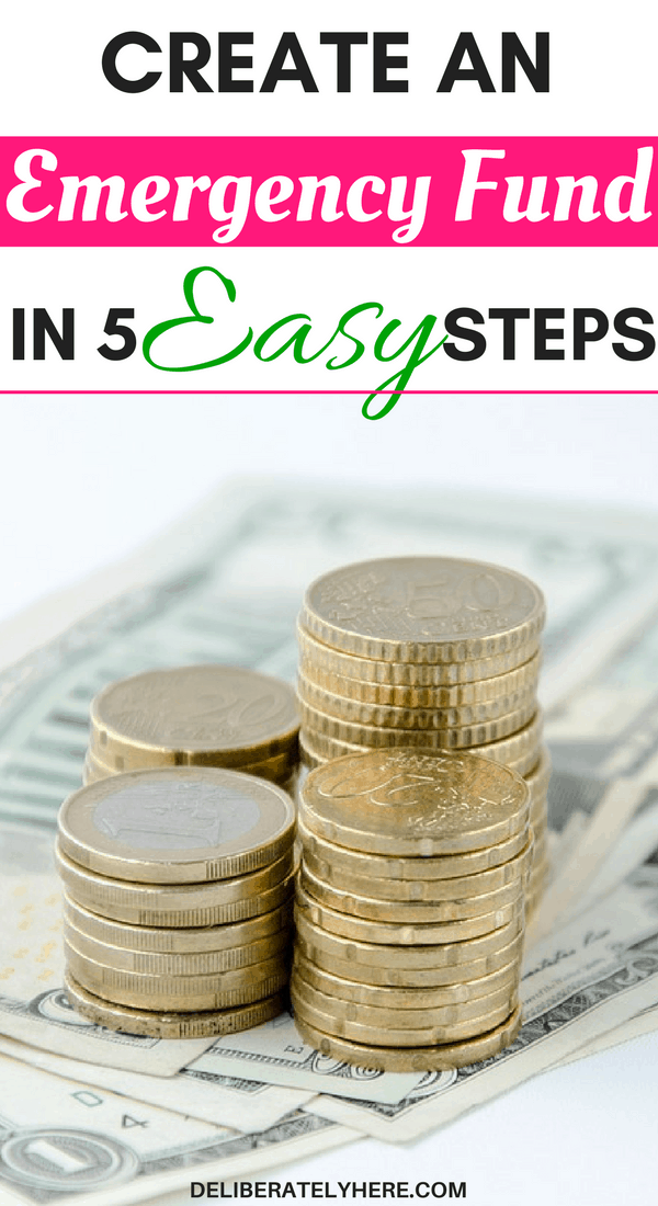 5 easy steps to start an emergency fund even when money is tight | create an emergency fund in 5 easy steps
