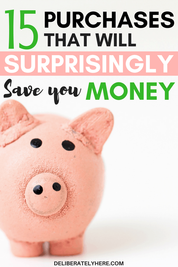 These 15 purchases will surprisingly save you money - save money by buying these things. This is so NEAT! All along I've been trying to avoid buying things to save money but who knew you should actually be BUYING things?! So COOL!