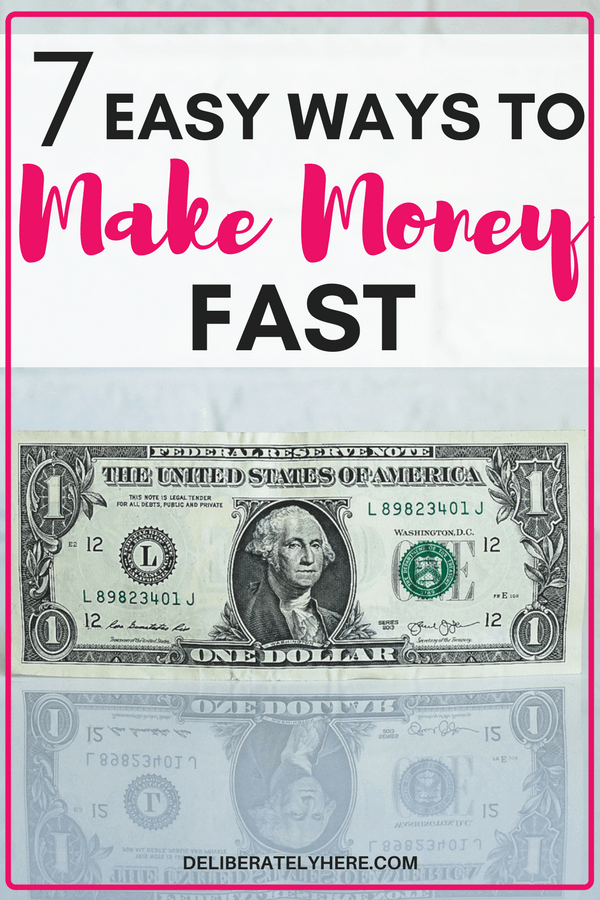 7 easy ways to make money fast - make money from home by doing these 7 simple things. Are you in a pinch and need money NOW? These are just a couple smart ways to make money fast to help you save money and snowball your debt.