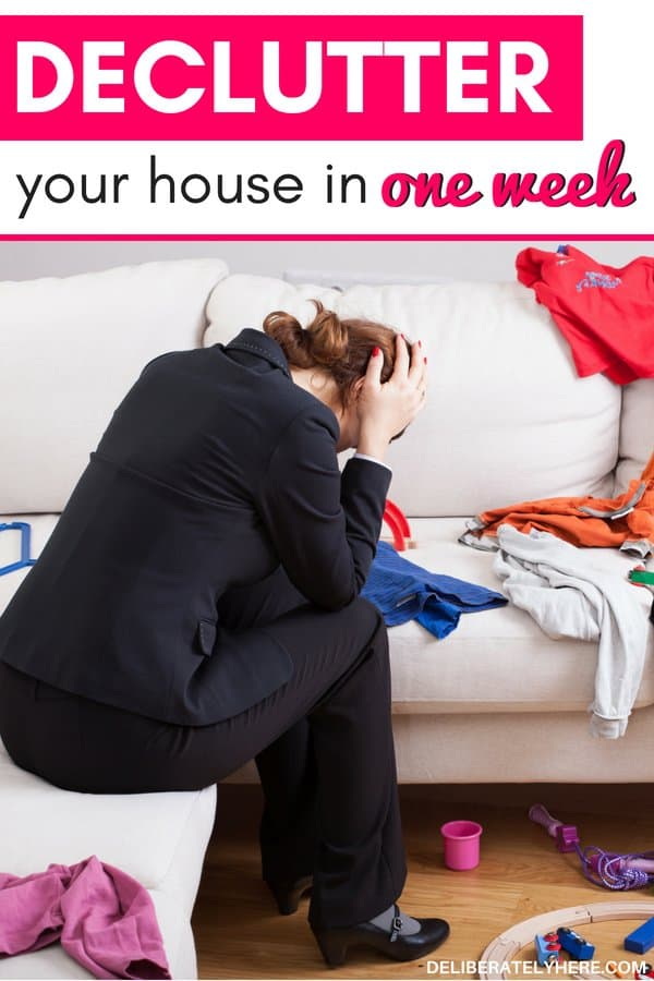 How to declutter your house in one week - follow these 5 easy decluttering tips to get rid of clutter in your house and create a clean, organized home this week. How to declutter when you're overwhelmed and the mess is too much to handle.