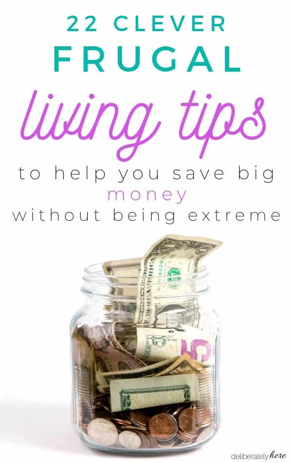 clever frugal living ideas with jar full of money