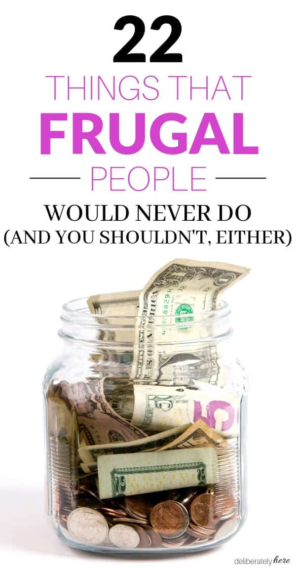 how to live frugally. Jar full of money
