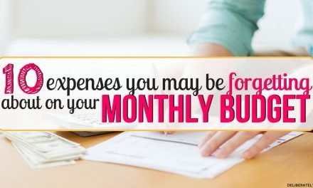 10 Expenses to Include In a Monthly Budget