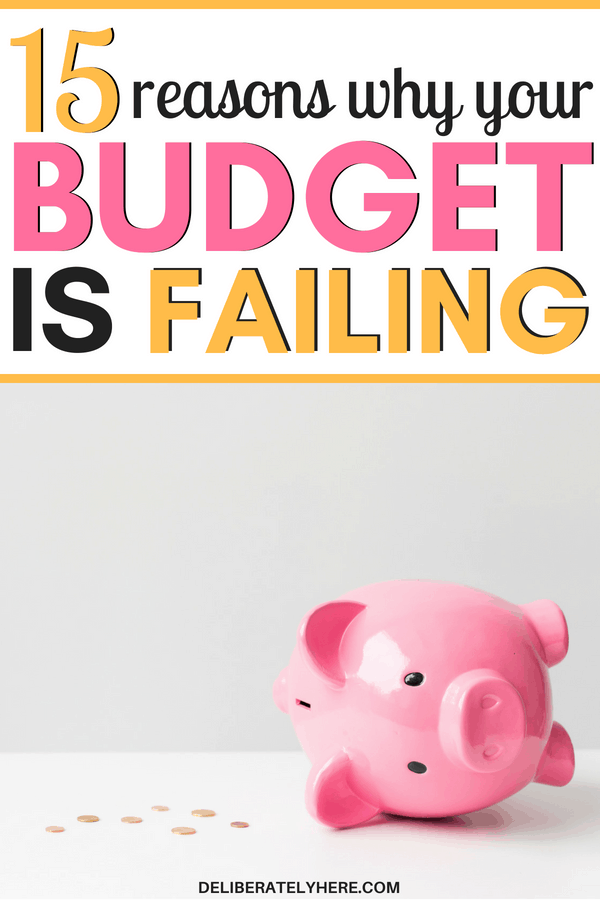 Reasons why your budget is failing. here's why your budget is failing even though you feel like you're a budget guru. Here is why you keep going over budget every month. Stay under budget and save money every month by cutting these costs out of your life. I used to HATE budgeting! I could never see myself being a budgeter, but now, thanks to the helpful tips in the article, I am excited to start budgeting and I know the exact steps to take to avoid budget failure!