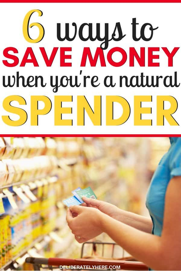 Easy ways to save money when you're a natural spender. Saving money every month by following these simple tips. How to stay on budget every month when you like to spend money. Stop impulse purchases with these handy tips. Are you a natural spender? Do you spend too much money out of boredom? You NEED these tips to help you save money every month and stay on budget!