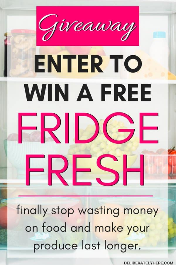 GIVEAWAY! Enter to win a free Fridge Fresh. Stop wasting money on groceries and food and start making your produce last longer. Fresh produce and vegetables should will last longer and taste crisper with this Fridge Fresh. Deodorize your fridge with the Fridge Fresh.