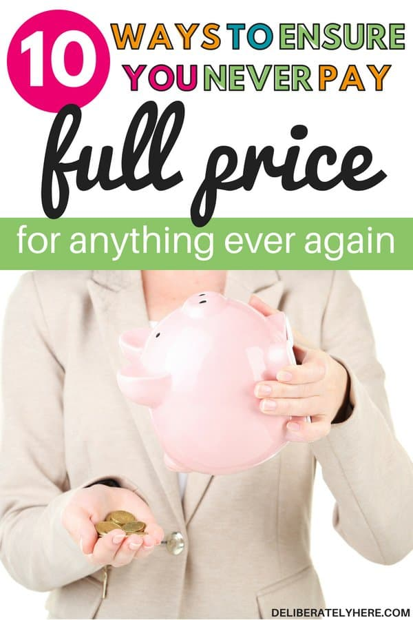 Never overpay again! 10 ways to ensure you never pay full price for anything every again. Find discounts with these helpful tips. Find discounts on regular daily living items