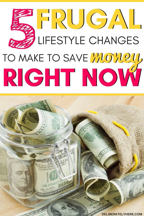 5 frugal lifestyle changes to make to save money right now. Save money with these easy frugal lifestyle changes. Are you struggling with your finances? Making a few minor changes to your lifestyle will help you get your finances under control once again. Here's how to easily live frugally.