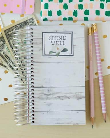 Carrie Elle Spend Well Budgeting System for the cash envelope system