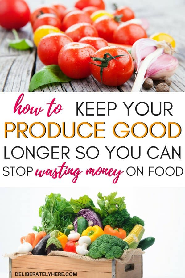 7 ways to keep your produce good longer so you can stop wasting money on food. Help your produce last longer so you always have good, fresh fruits and vegetables to eat.