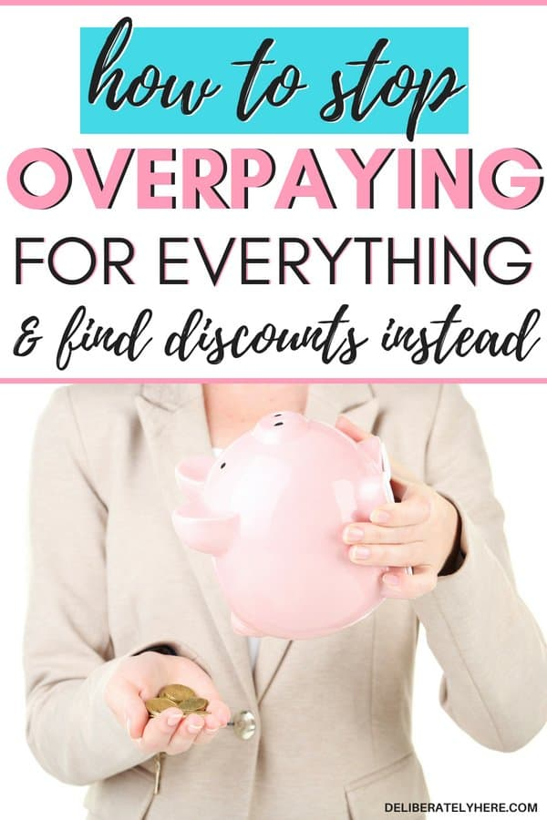 10 ways to stop overpaying for everything and find discounts instead. Find discounts on everyday items - don't overpay. Stop spending so much money on your bills and find ways to cut costs instead! Lower your monthly bills with these 10 smart money saving tips and ideas.