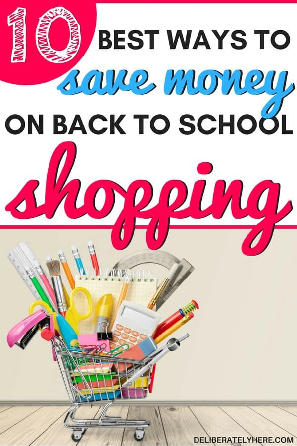 10 best ways to save money on back to school shopping to ensure you get the best price for all things back to school. Save money this year on back to school shopping with these 10 frugal shopping tips to help you have the cheapest shopping trip ever! Save money on school supplies, shop smart this school season.