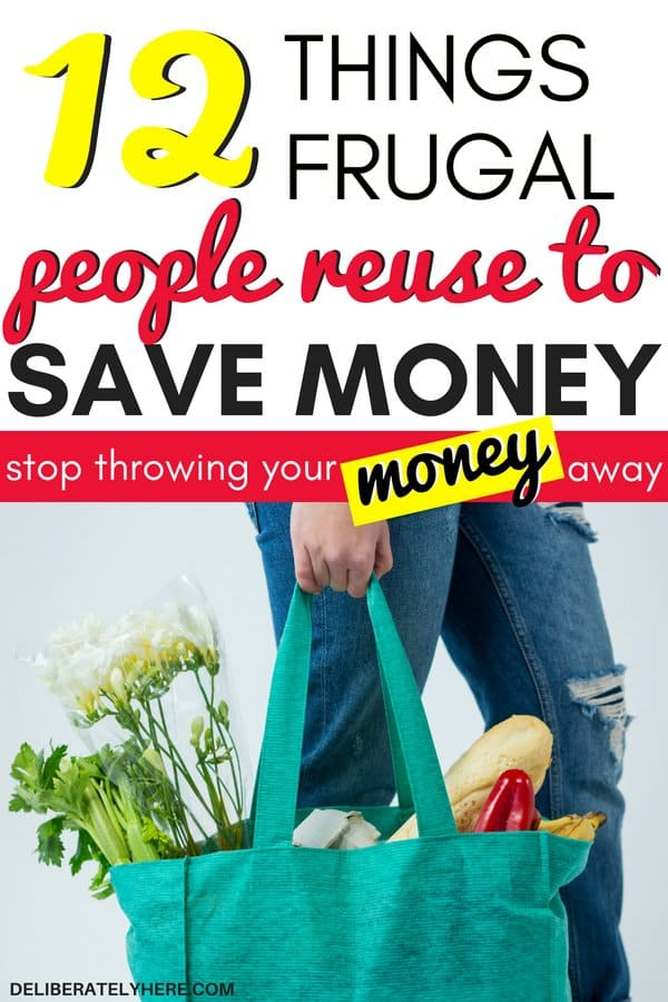 12 items to reuse to save money every month. Items frugal people reuse to save money every month. Learn how to make your money last longer with these 12 easy money saving tricks. I'm so glad I came across this article! Some of these things to reuse are different than ones I've ever heard before, but they WORK! I can't believe how much money I've been able to save by implementing the easiest money saving trick of all! Start saving money fast with these frugal living ideas to help you live a simple life and live well on a low income.
