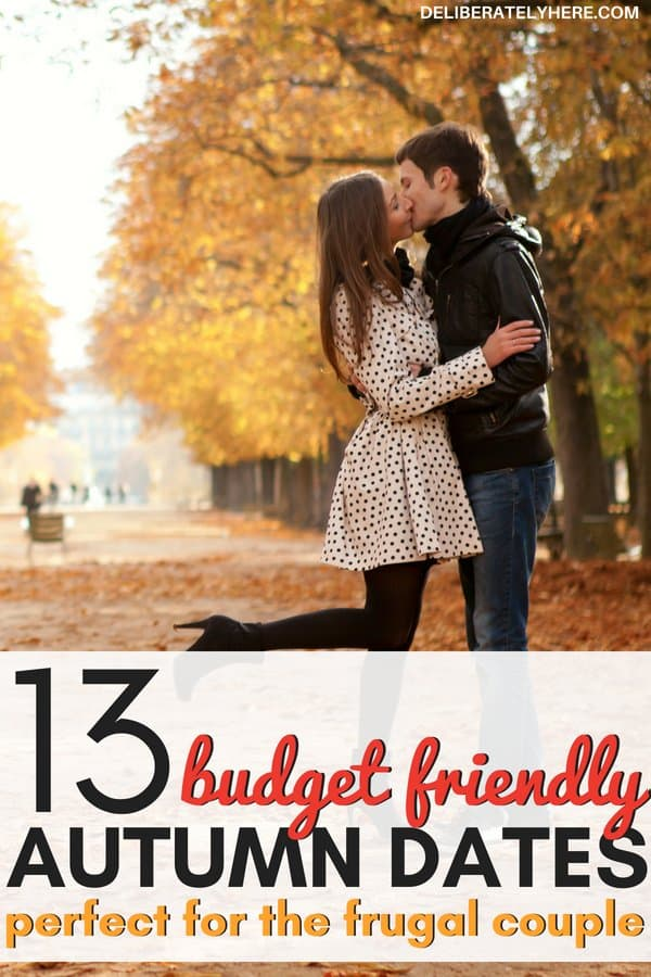13 budget friendly autumn date ideas perfect for the frugal couple. Cheap or free date ideas to do this fall. Frugal fall date ideas perfect for the budgeting couple. Save money this fall with these romantic fall date ideas.