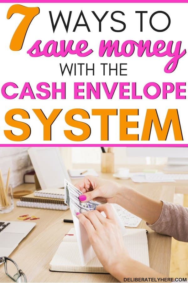 "7 easy ways to save money fast with the cash envelope system. Save money with the cash envelope system DIY and cash envelope system printables to help you stay on budget month after month. Cut monthly costs and start making smart personal finance choices to save money with frugal living ideas. Use these cash envelope system categories to help you budget your money and pay with cash! Become a ""we paid with cash!"" success story when saving money with the cash envelope system."