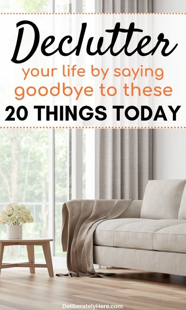 20 ways how to declutter and organize your home. If you want to declutter but don't know where to start, here are 20 simple things to declutter from your home today to create a happier, healthier home. Easily declutter your home in a few simple steps with this free decluttering checklist to get you started.