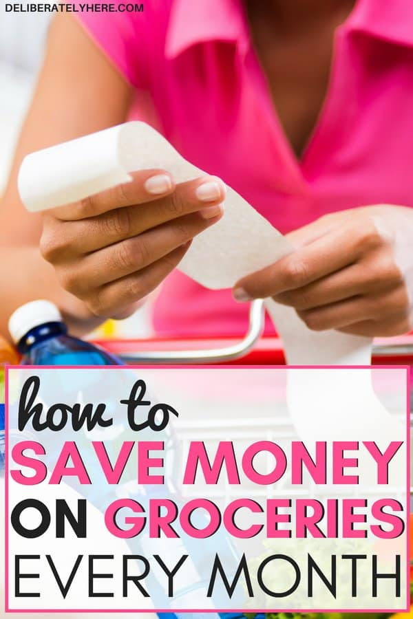 18 easy ways to save money on groceries every month. Simple ways how to save money on food ideas while sticking to a budget. Lower your grocery bill every month with these smart money saving tips and ideas. Frugal living ideas for beginners to help you save money on groceries fast.