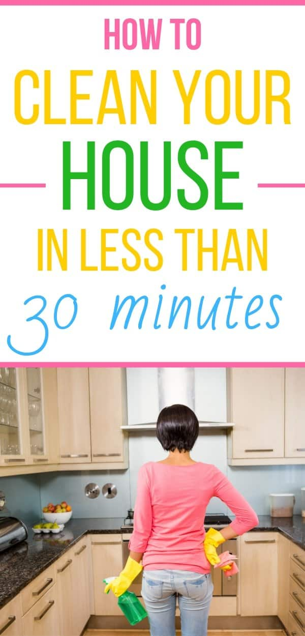 How to clean your house fast. How to deep clean your house like a professional in less than half an hour. Easy house cleaning tips for busy moms. How to deep clean every area of your house fast. How to clean your house when the mess is overwhelming.