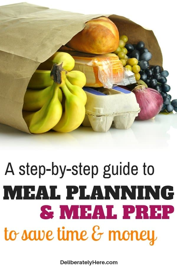 A simple guide to meal planning and prep. How to meal plan and prep your meals to save time on food and spend less time in the kitchen. Learn how to meal plan today! Save money on groceries every month and stay within your budget. Save money fast with meal planning on a budget. Learn these meal planning for beginners methods to help you start down your meal planning journey.
