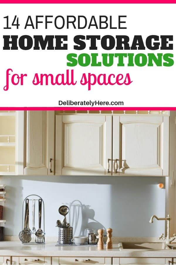 14 affordable home storage solutions to organize small space. Organize your home with these storage solutions. Home storage organization fixes. Home storage ideas to clear the clutter in your home. Home storage hacks to make your life easier. Tiny home storage solutions to maximize your space.