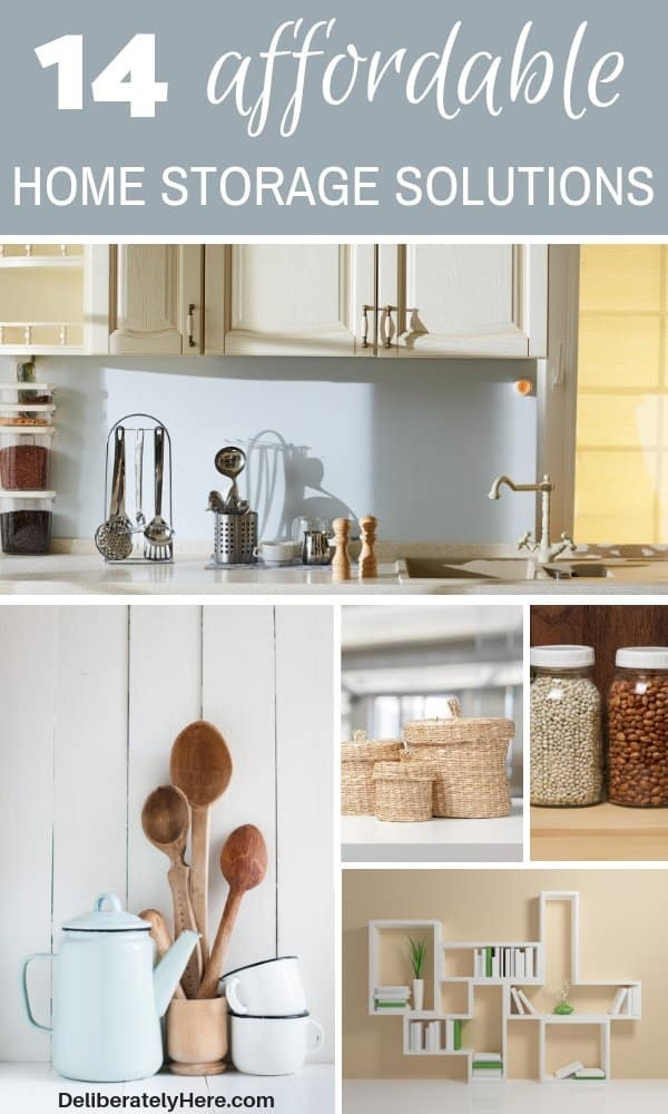 14 affordable home storage solutions to organize small space. Organize your home with these storage solutions. Home storage organization fixes. Home storage ideas to clear the clutter in your home. Home storage hacks to make your life easier. Tiny home storage solutions to maximize your space. Use these stylish home storage bins to spruce up your home.
