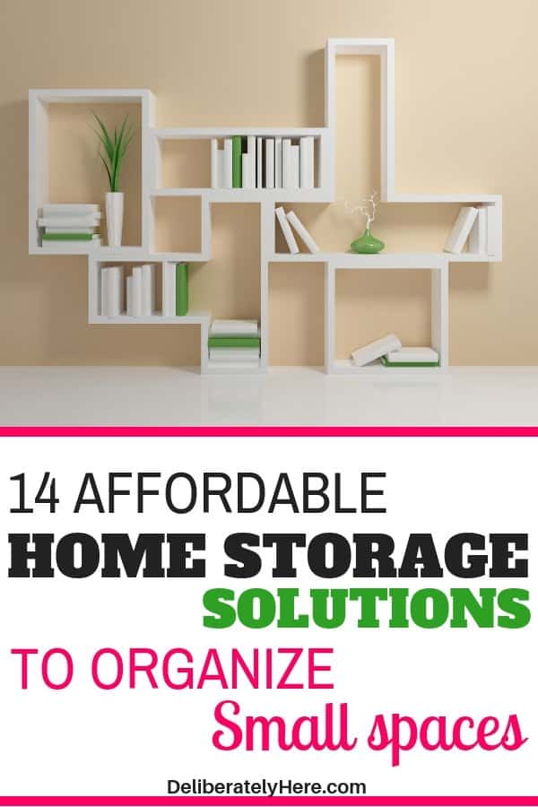 14 affordable home storage solutions to organize small space. Organize your home with these storage solutions. Home storage organization fixes. Home storage ideas to clear the clutter in your home. Home storage hacks to make your life easier.