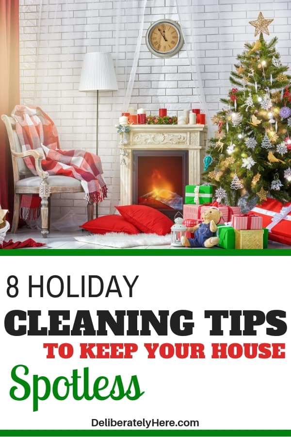8 holiday cleaning tips to keep your house spotless. 8 cleaning tips to keep your house spotless over the holidays. Holiday cleaning tips for a stress-free holiday season. Holiday cleaning checklist to keep a clean house when you have no time. Keep your house ready for guests this season with this Christmas cleaning checklist. Family holiday cleaning tips to create a spotless home in little time. Holiday home cleaning checklist. Use these holiday home cleaning tips to create a home that is ready for guests. Holiday cleaning schedule for your home.