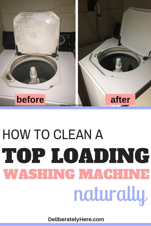 How to clean a washing machine naturally. 10 steps to clean a top loading washing machine with natural products. How to clean washing machines - how to clean top load washing machines using vinegar and baking soda. How to easily clean your washing machine. Cleaning hacks for the home. Cleaning tips for the home.