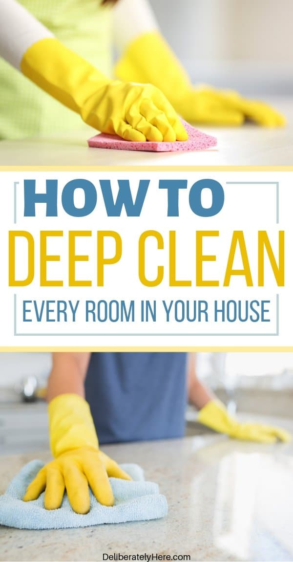 How to clean every room in your house fast. How to clean your house room by room printable cleaning checklist. How to clean your house when you're overwhelmed by the mess. How to clean your house like a pro in one day (fast cleaning tips for the busy mom!). Printable house cleaning schedule checklist.