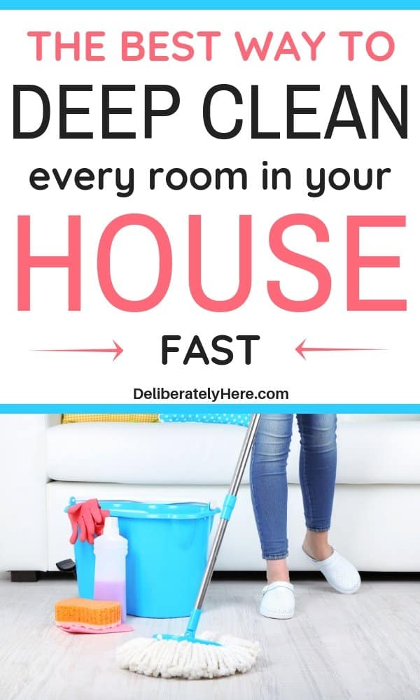 4 ways to deep clean your house fast. How to clean every room in your house fast. How to deep clean your entire house fast. Home deep cleaning checklist. Printable cleaning schedule. How to clean your house when you have no time. Home cleaning tips to make your life easier. Easy cleaning tips. Clean your house fast and effectively. Deep clean your entire house in one day.