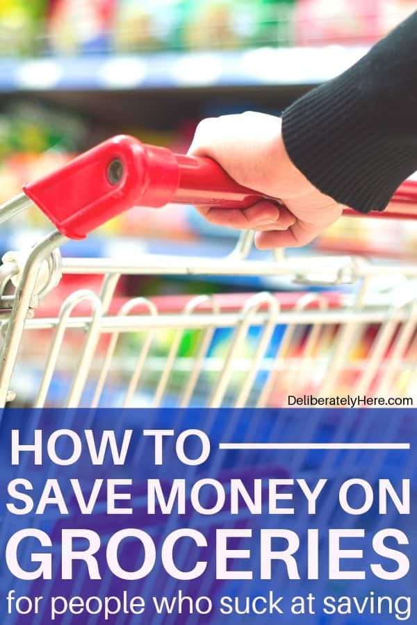 How to save money on groceries every month. The one trick I use to save $700/month on groceries. How to cut your grocery bill in half when you suck at budgeting. How to use meal planning to save money on groceries. Frugal living tips to lower your grocery bill. How to save money on groceries without coupons.