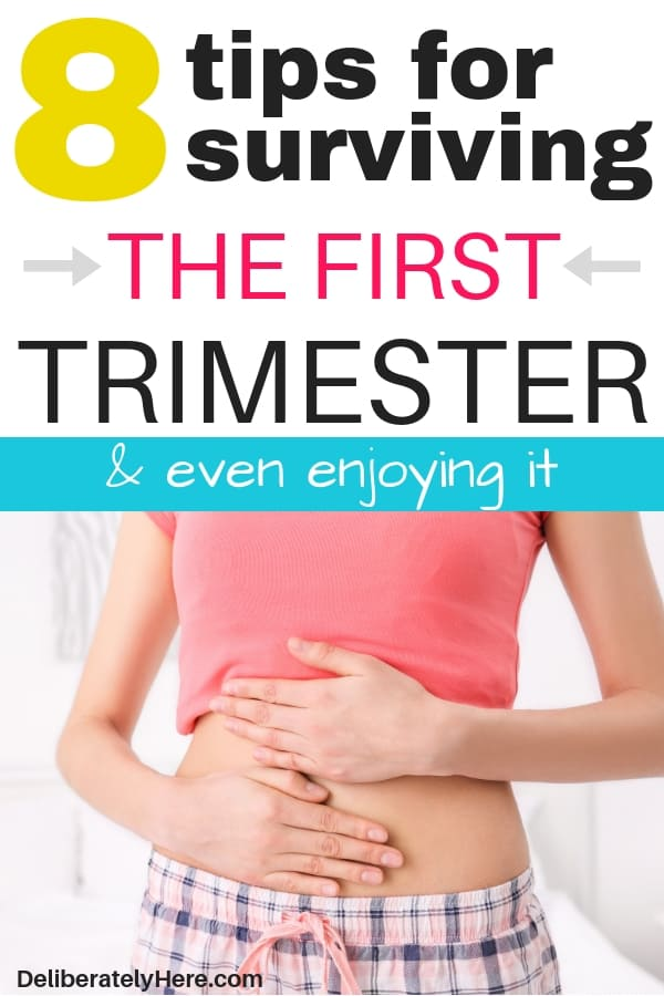 8 tips to help you survive the first trimester of pregnancy. Tips for surviving the first trimester of pregnancy when it sucks. How to survive the first trimester. First trimester pregnancy dos and don'ts. First trimester tips to help you get rid of morning sickness and make it through the first trimester. Pregnancy tips week by week. First trimester pregnancy checklist. First trimester must haves for an easier pregnancy.