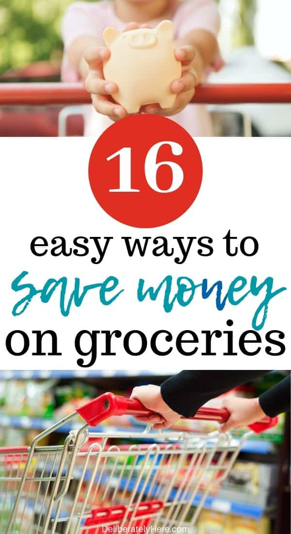 Fail-proof ways to save money on groceries every single month. 16 easy ways to save money on groceries every month. How to save money on groceries. Money saving hacks to lower your monthly grocery bill. What we do to lower our grocery bill every month. How was cut $700 a month off of our grocery bill. Use these money saving hacks to save money on your grocery bill. Frugal ways to save money on groceries. How to live frugally. How to use meal planning to save money on groceries.
