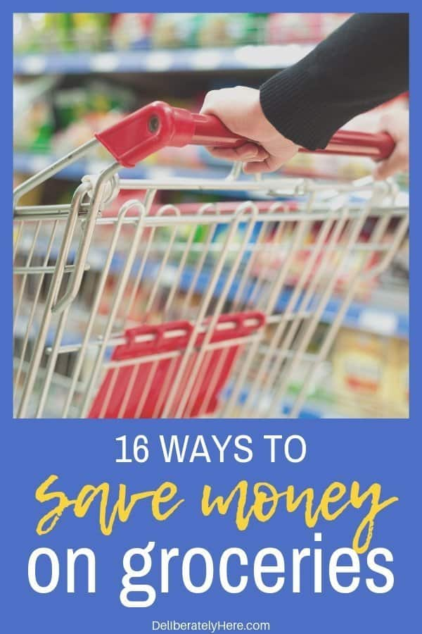 16 easy ways to save money on groceries every month. Money saving tips that help me lower our grocery bill by $700/month! How to save money on groceries every month. Spend less money on groceries. How to eat healthy on a budget. How to meal plan to save money on groceries.