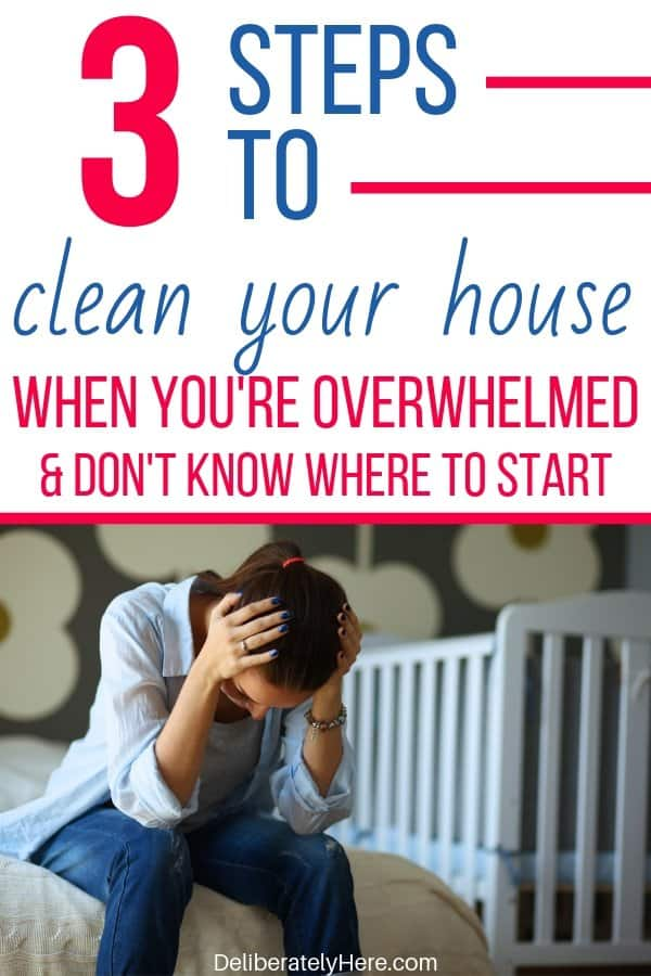 3 steps to clean your house when you're overwhelmed and don't know where to start. How to clean your house when it's a mess. How to clean when you're overwhelmed by the mess. How to clean your house fast (like a professional). How to clean your house when it's a mess. Simple steps to clean your house when you don't know where to start. 3 ways to clean your house room by room.